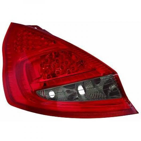 Back Rear Tail Lights Pair Set LED Clear Red Black For Ford Fiesta 08-12