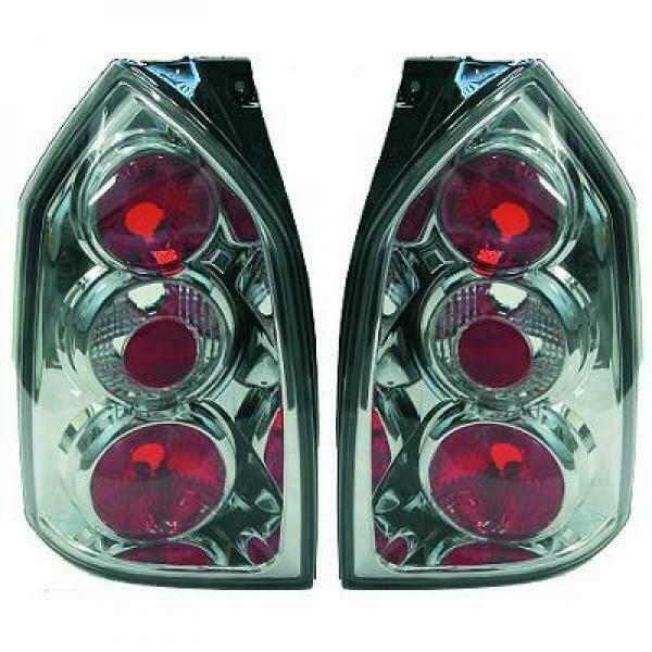 Back Rear Tail Lights Pair Set Clear Chrome For Hyundai Tucson 04-10