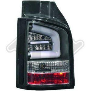 Back Rear Tail Lights Pair Set LED Clear Black For VW T5 Multivan 09-15 tailgate