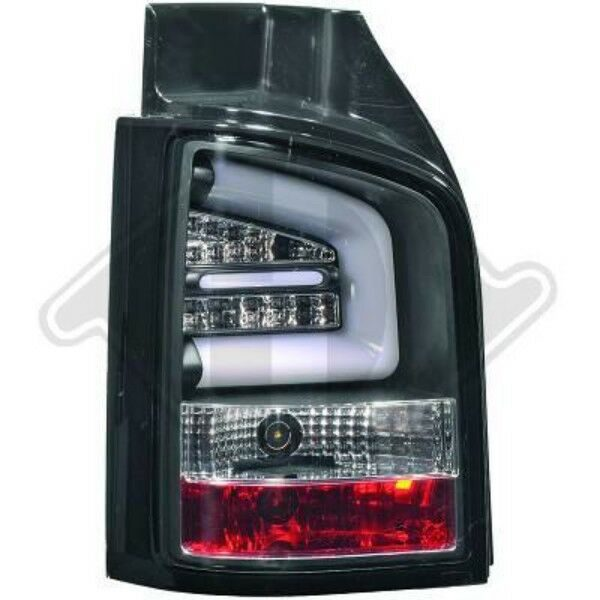Back Rear Tail Lights Pair Set LED Clear Black For VW T5 Multivan 09-15 tailgate