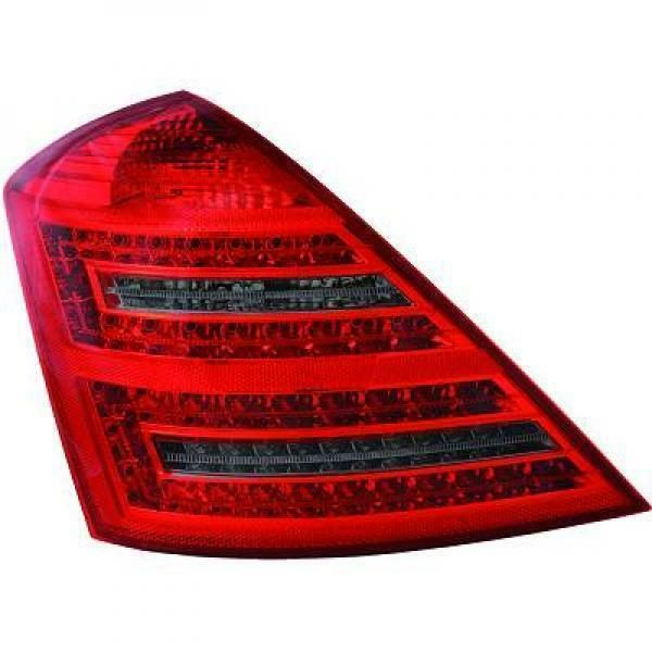 Back Rear Tail Lights Pair Set LED Clear Red Black For Mercedes W221 05-11