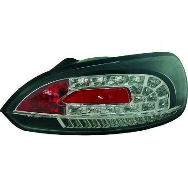 Back Rear Tail Lights Pair Set LED Clear Black For VW Scirocco 08-14