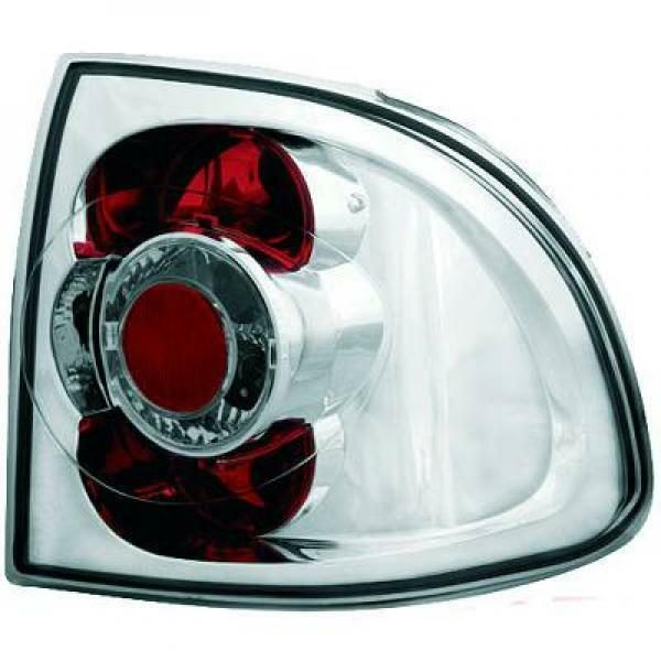 Back Rear Tail Lights Pair Set Clear Chrome For Vauxhall Astra F 91-97