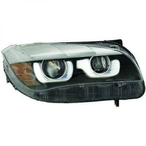 LHD Projector LED DRL Headlights Headlamp Pair Clear Black For BMW X1 E84 09-12
