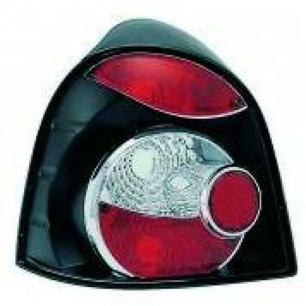 Back Rear Tail Lights Pair Set Clear Black For Renault Twingo 93-00