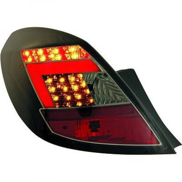 Back Rear Tail Lights Pair Set Clear Smoke Black For Vauxhall Corsa D 5 Dr 06-14