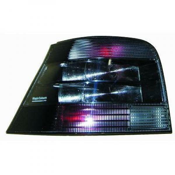 Back Rear Tail Lights Pair Set Brillant Black For VW Golf IV 97-03