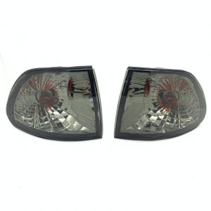 Pair front Indicators Replacement Part Clear black smoked For BMW E38 94-98
