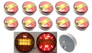 12v/24v Hamburger truck trailer back rear tail LED lights lamps round car van