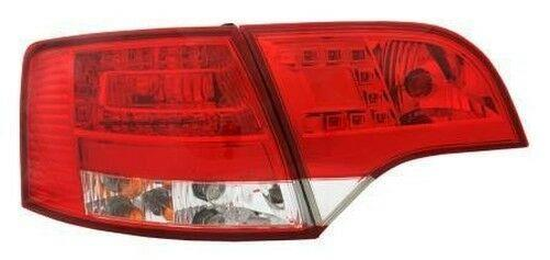 Back Rear Tail Lights For Audi A4 B7 Avant 11/04-03/08 With LED In Red-Clear