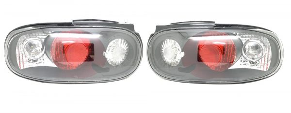 Back Rear Tail Lights Lamp Indicator Set Clear Black Pair For Mazda Mx5 Na -3/98