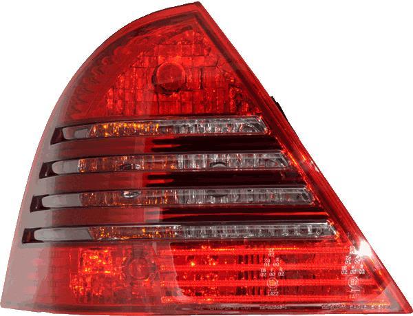 Eagle Eyes 253013 Right Left Driver Passenger Side OS NS RH LH Rear Back Tail Light Lamp Red Black LED Pair