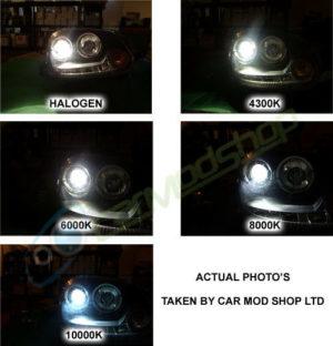 Fits Subaru Justy MK1 55w ICE Blue Xenon HID High//Low//Side Bulbs Set