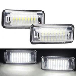 VIGORFLYRUN PARTS LTD 2pcs Car LED License Number Plate Light For 86 GT86 FT86 BRZ Scion FR-S, 18 LED Canbus 12V Error Free White Lamp