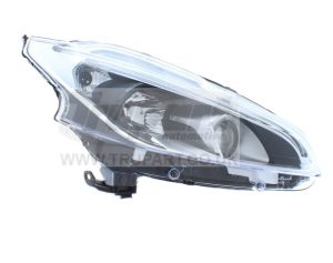 Replacement Projector Headlights black For Peugeot 208 2015-2019