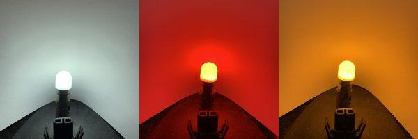 12v 24v 382 BA15S R5W 245 207 LED Bulb Opaque frosted lens Red White Amber