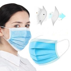 10 pcs Surgical disposable face mask flu virus 3 ply