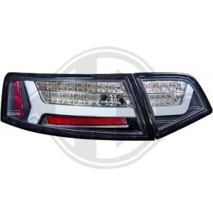 Crystal Clear LED back rear tail lights for Audi A6 2008-11