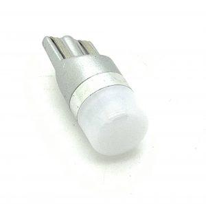 T10 501 W5W LED bulb frosted lens 12v 24v xenon white