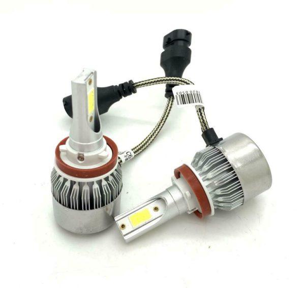 H11 C6 LED Fog Light Bulbs Kit 7600 Lumens 12V 24V Canbus For VW