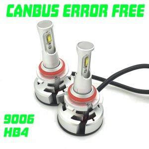 V9 CSP LED Headlight Bulbs Kit 10000 Lumens! 12-24v Canbus Error Free H7 H4