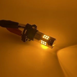 Pair PSY24W 3030 SMD LED yellow amber indicator bulbs 24W