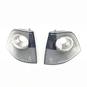 Pair black crystal clear front indicators fits BMW 2 door E36 Coupe Cabrio 91-99
