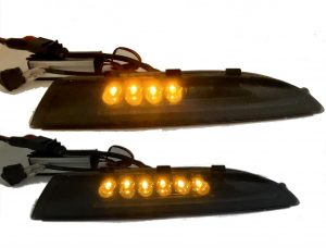 Full white LED DRL units with dynamic indicator for VW Scirocco 2008-