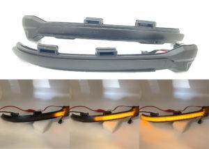 Pair Smoked Black dynamic side mirror indicators blinkers for VW Golf MK7