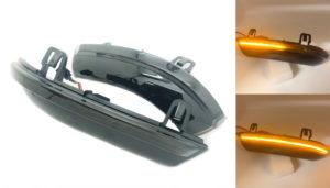 Pair Smoked black LED dynamic mirror indicators blinkers for VW Golf MK5 V