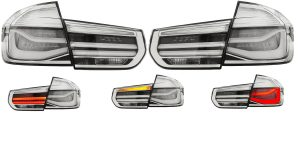 Back rear tail lights smoked LED for BMW F30 Saloon 2011-15