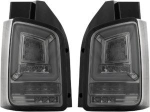 Pair LED smoke grey back rear tail lights for VW T5.1 2010-15 Dynamic
